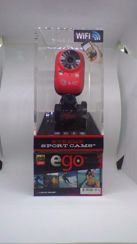 camara de video deportiva liquid image ego roja