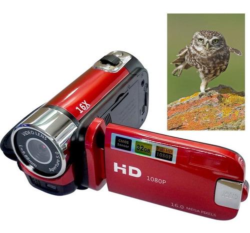 cámara de vídeo digital de alta definición 16x rojo regulaci