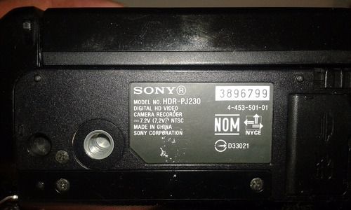camara de video hd sony