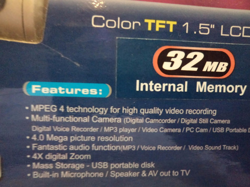 camara de video mustek dv3500