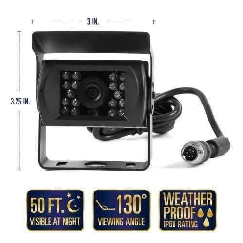 cámara de video rvs-770614 de visión trasera con pantalla lc