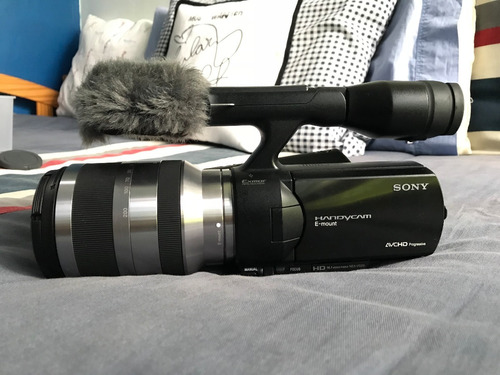 cámara de video semi-profesional hd sony handycam nex vg20