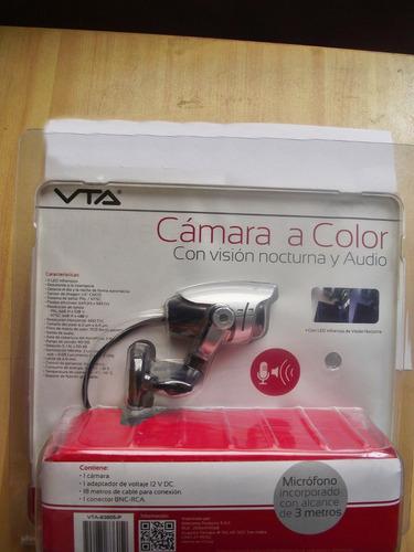 camara de vigilancia a color vision nocturna y audio