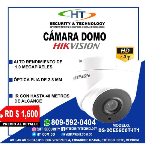 camara de vigilancia analoga  hikvision 720p hd 2.8 mm