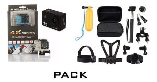 cámara deportes extremos 4k sumergible+ 11 accesorios gopro