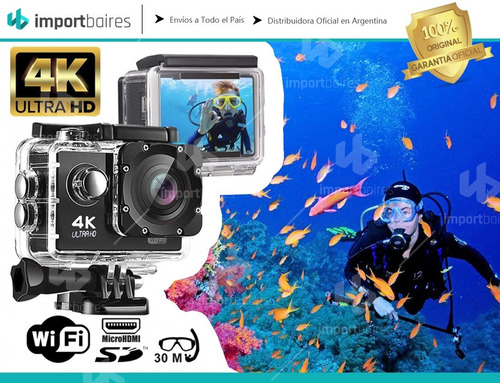 camara deportes go 4k full hd wifi sumergible accesorios video fotos alta calidad deportes extremos