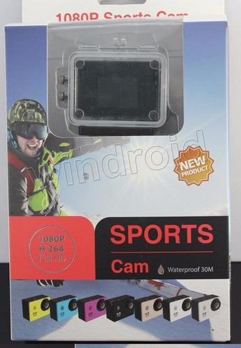camara deportes sumergible 1080p 12mpx con wifi+ accesorios