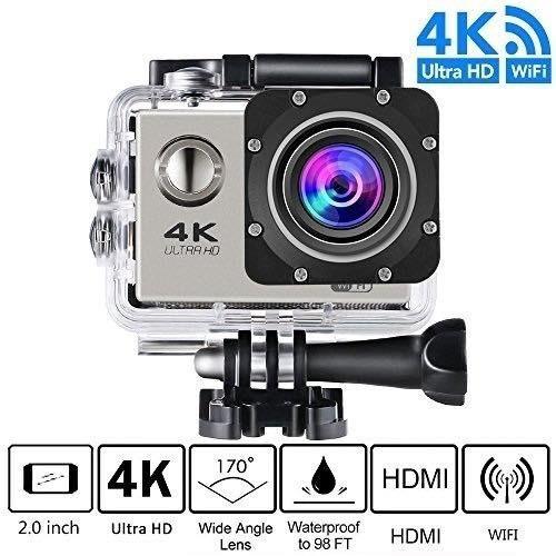 camara deportiva 4k 1080p con estuches y accesorios