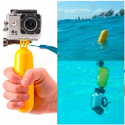 cámara deportiva 4k 16m + 2 baterias + selfiestick +flotador