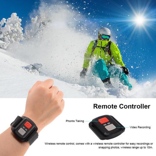 camara deportiva 4k tipo go pro wifi sumergible + control