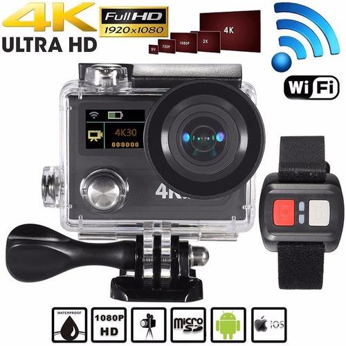 cámara deportiva 4k ultra hd 12mp doble pantalla 2.0 170°