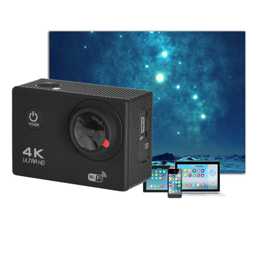 cámara deportiva 4k wifi sumergible 12mp h.264 action camera