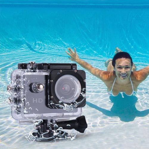 cámara deportiva a prueba de agua sumergible