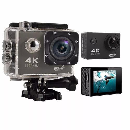 cámara deportiva action go pro 4k 1080p + control remoto