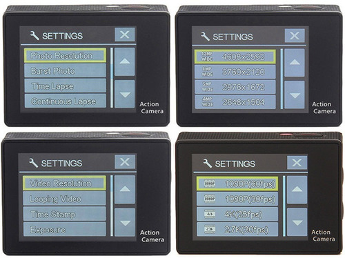 camara deportiva eken h9r 4k uhd wifi contra agua + control
