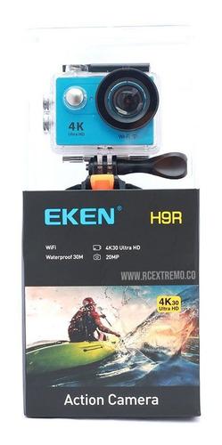 camara deportiva eken h9r wifi sumergible 30m azul