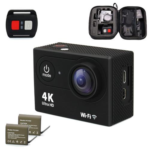 cámara deportiva extrema 4k prefeco, 16 mp, accesorios