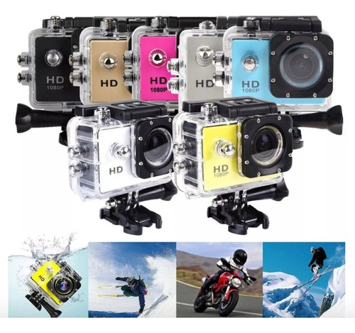 camara deportiva go pro 4k action cam 16mp full hd 1080
