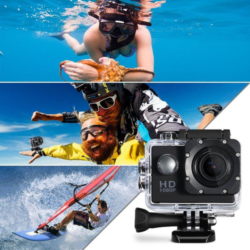 camara deportiva go pro 4k wifi action 30 m full hd 1080