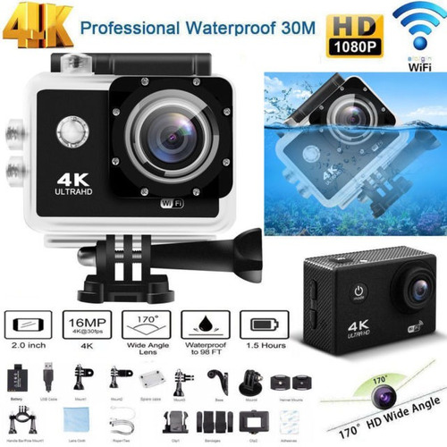 camara deportiva go pro 4k wifi action cam 16mp full hd 1080