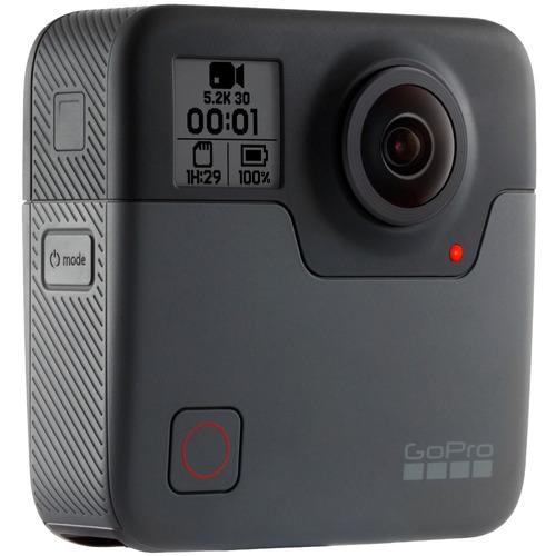 cámara deportiva go pro fusion + micro sd 32gb over