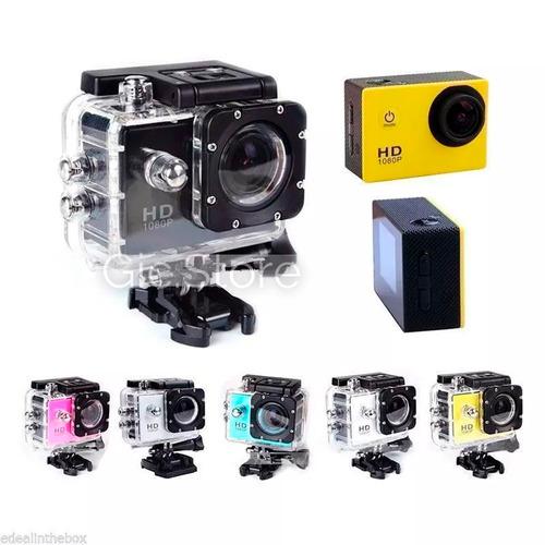 cámara deportiva hd 1080p   sumergible 30 mt con accesorios
