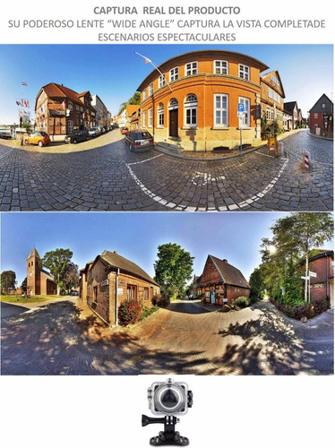 camara deportiva panoramica 360º c remoto sumergible wifi 4k