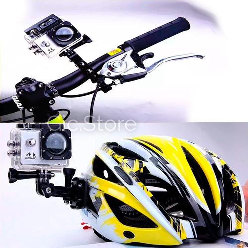 cámara deportiva pro hd 4k wifi sumergible 30m + accesorios