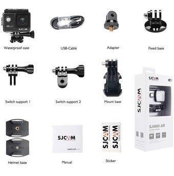 cámara deportiva sj4000 air wifi 4k color negro
