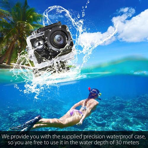 cámara deportiva sport cam full hd 1080p sumergible 30 met