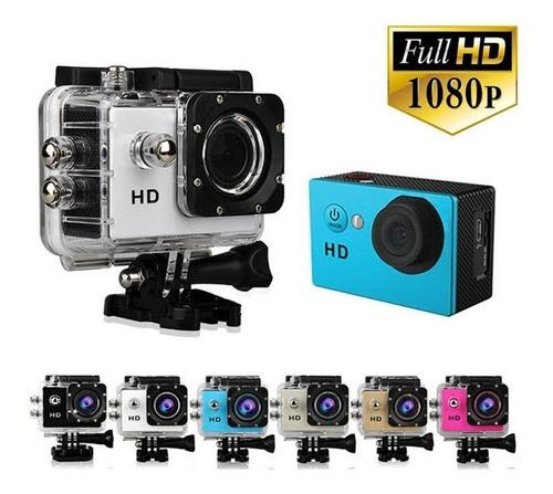camara deportiva sumergible fullhd action camera 1080p sd hd