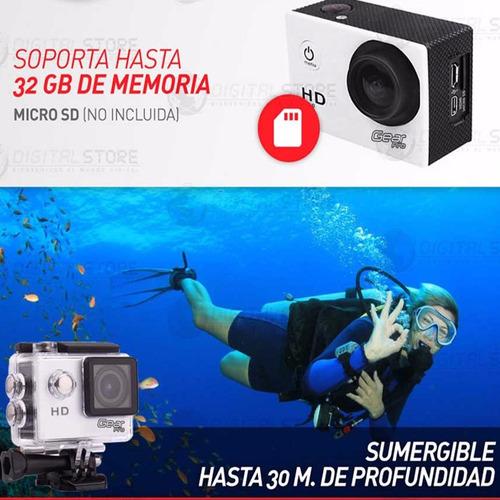 camara deportiva sumergible go hd gear pro lcd + accesorios