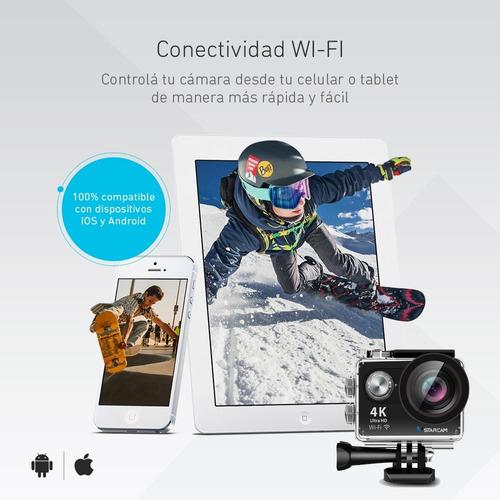 camara deportiva sumergible ultra hd 4k 16mp wifi + control remoto + accesorios video filmadora vstarcam