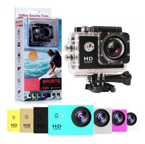 cámara deportiva tipo go pro 1080p con estuche y accesorios
