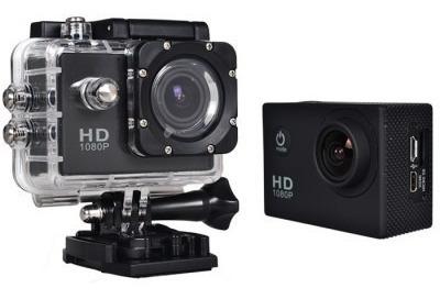 cámara deportiva tipo go pro sumergible 30 mts + accesorios
