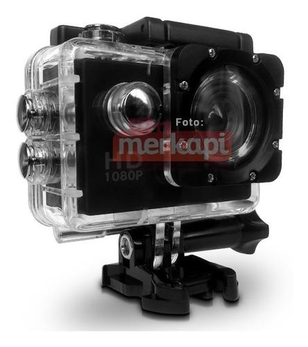 cámara deportiva tipo go pro sumergible 30 mts, + accesorios