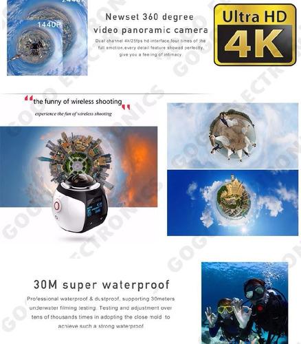 camara deportiva videos 360 v1 wifi 4k aprueba de agua 16mp