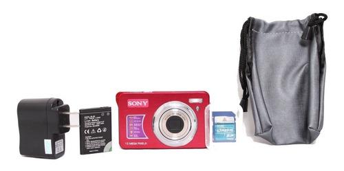 camara digital 15mpx con memoria de 2gb, estuche y cargador