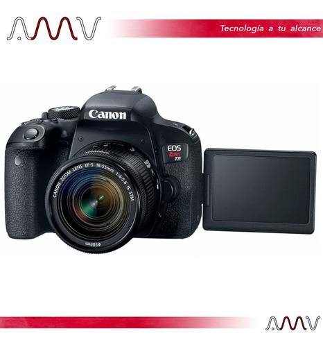 cámara digital canon eos rebel t7i 24,2mp fullhd wifi amv