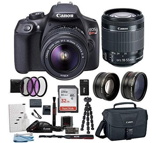 cámara digital canon eos rebelde t6: 18 megapixel 1080p hd