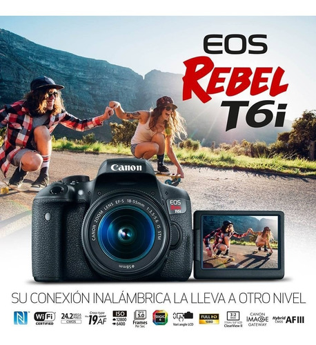 camara digital canon eos-t6i 18-55is