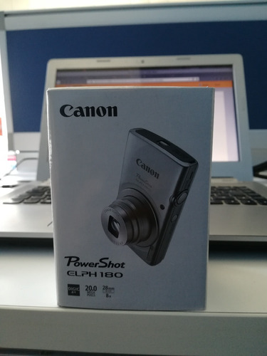 cámara digital canon power shot elph 180 color plata
