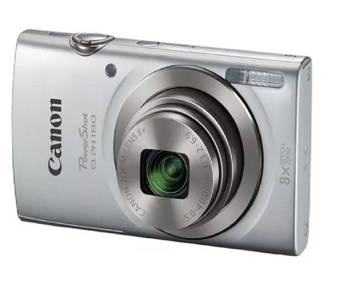 cámara digital canon powershot elph 180 is 20mp color plata