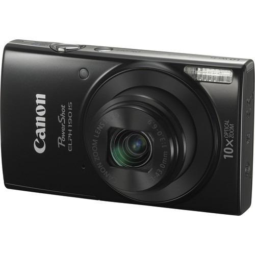 cámara digital canon powershot elph 190 is 20mp negra wi-fi