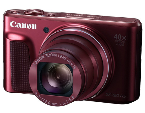 cámara digital canon powershot sx720 hs (roja)