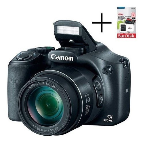camara digital canon sx530 hs full hd wifi + memoria 32g c10