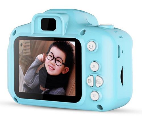 cámara digital dc500 pequeña y a color para niños, azul