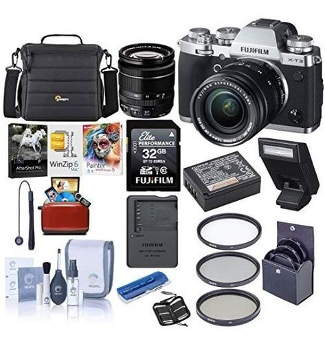 camara digital fujifilm x-t3 26.1mp mirrorless camera with x
