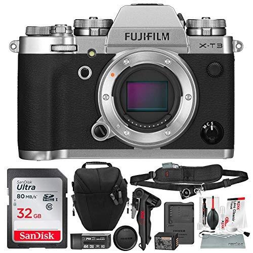 camara digital fujifilm x-t3 mirrorless digital camera (silv