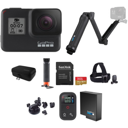 cámara digital gopro hero7 black kit - nueva y original